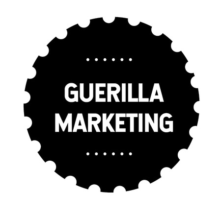 guerilla marketing stamp Stock Photo