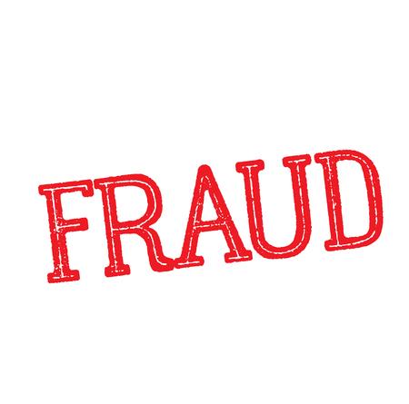 fraud stamp on white background Sticker label