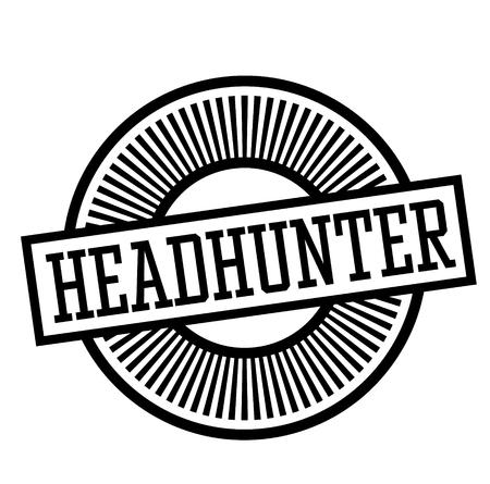 headhunter stamp on white background Sticker label Illustration