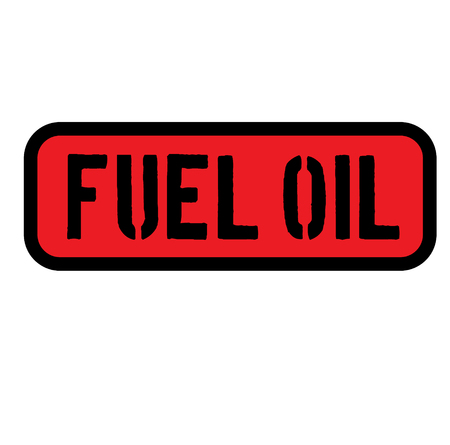 fuel oil sign on white background Sticker label