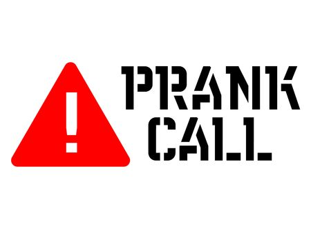 Prank call attention sign, sign, label. Black and red series Illustration