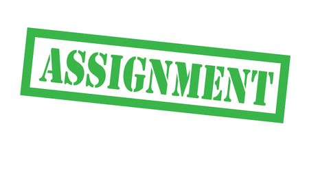 assignment stamp on white background. Sign, label sticker Illustration