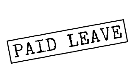 Paid leave black rubber stamp