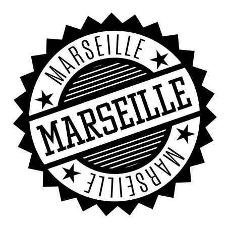 Marseille black and white badge