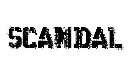 Scandal typographic stamp