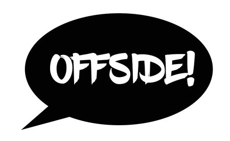offside stamp on white background. Sign, label sticker