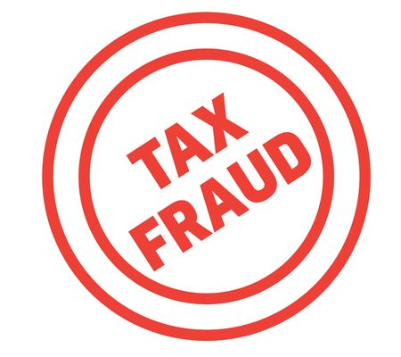 tax fraud stamp on white