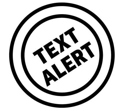 text alert stamp on white background. Sign, label, sticker Illustration