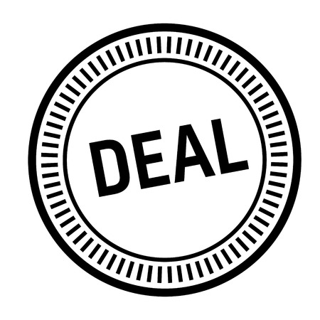 deal stamp on white background. Sign, label sticker