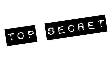 top secret stamp on white Imagens - 118886162