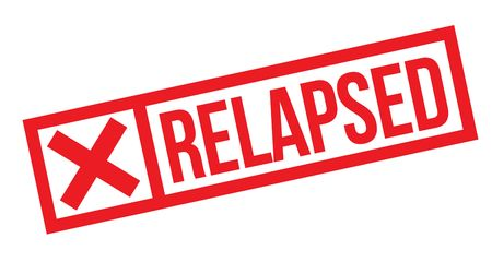 relapsed stamp on white background. Sign, label sticker