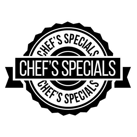 chef specials stamp on white background. Sign, label, sticker Illustration