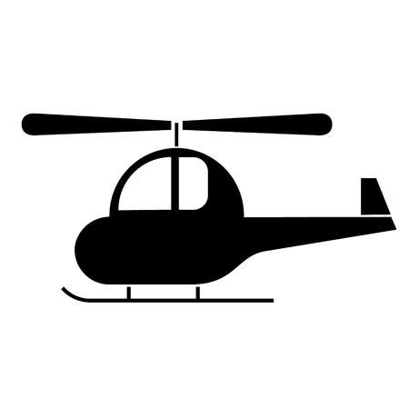 helicopter simlple art geometric illustration. Icon, graphic symbol, part of image design Various transport, city transportation and machinery