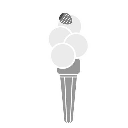 ice cream cone with strawberry simlple art geometric illustration. Icon, graphic symbol, part of image design , kitchen, vegetables, fruit, desserts