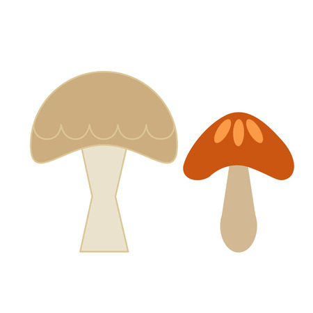 mushroom simple color illustration. Icon, graphic symbol, part of image design , forest wildlife related items