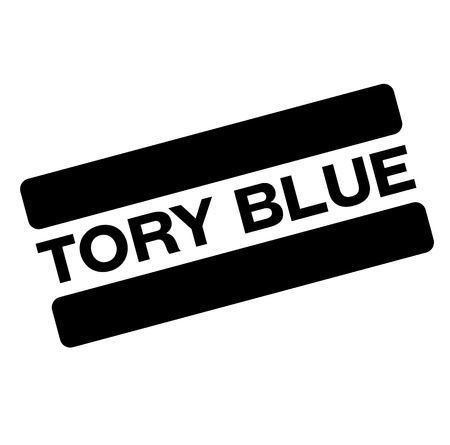 tory blue black stamp, sticker, label, on white background Illustration