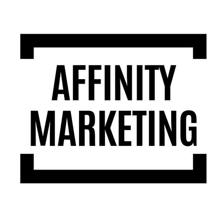 affinity marketing black stamp