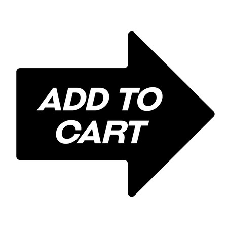 add to cart black stamp, sticker, label, on white background