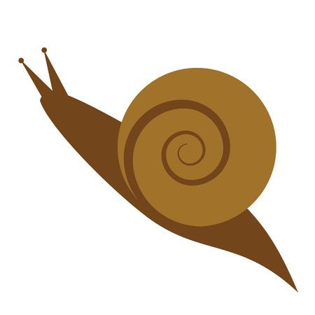 snail flat illustration Ilustração