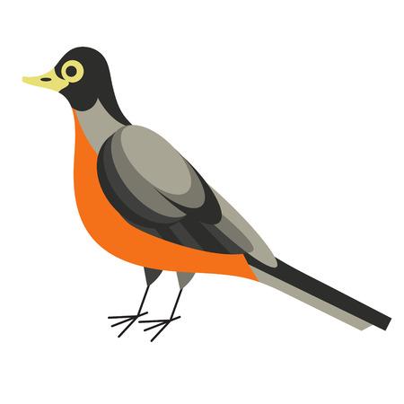 forest bird flat illustration Иллюстрация