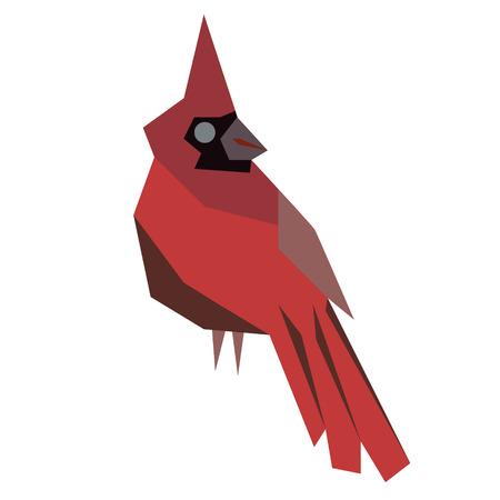 red cardinal flat illustration Иллюстрация