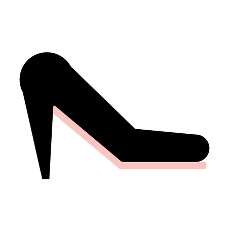 high heel flat illustration isolated on white. City life and life style series