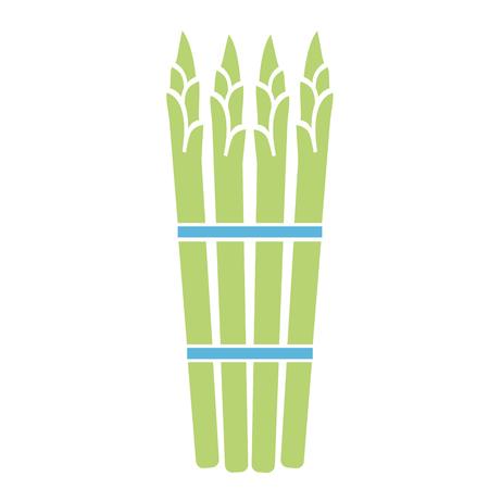 illustration simple plat d'asperges
