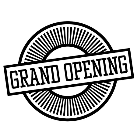 grand opening stamp on white background