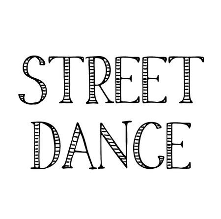 street dance label Ilustrace