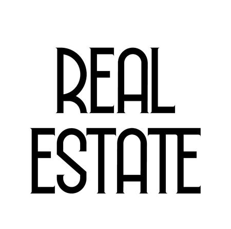 real estate label Illusztráció