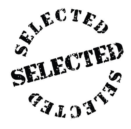 Timbro selezionato su sfondo bianco