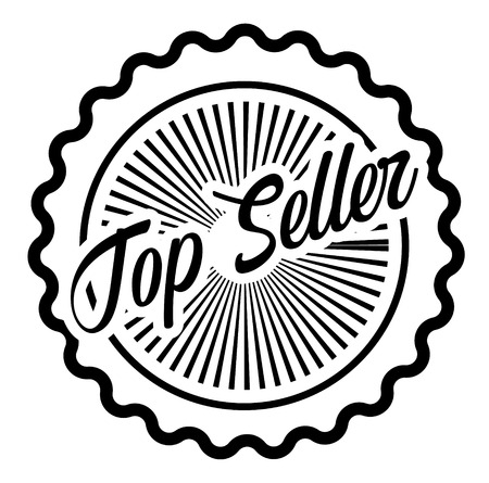 Top Seller stamp on white background