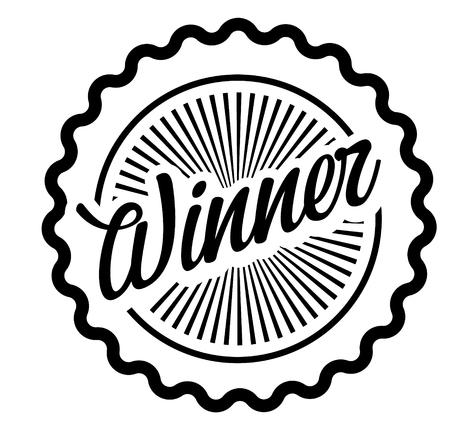Winner stamp on white background Illusztráció