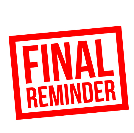 Final Reminder stamp