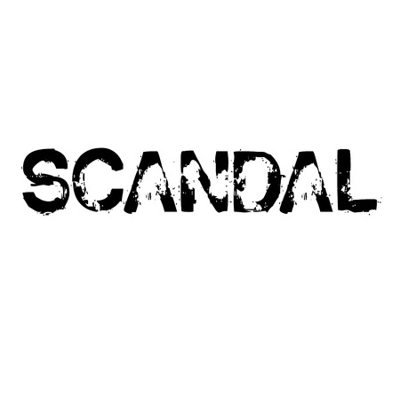 Scandal stamp on white background