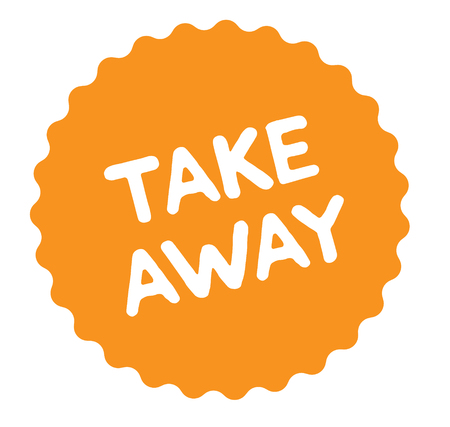 take away stamp on white background. Sign, label, sticker