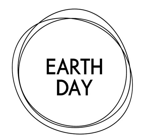 earth day label Standard-Bild - 118889895