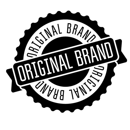 original brand stamp on white
