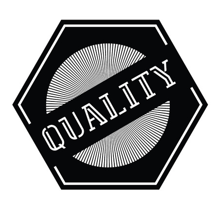 quality stamp on white background