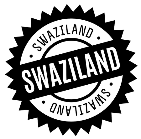 swaziland stamp on white background