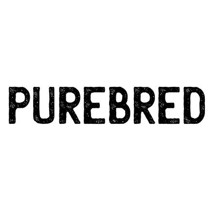 purebred stamp on white background