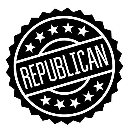 republican stamp on white background. Sign, label sticker