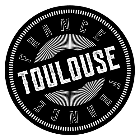 toulouse stamp on white background. Sign, label sticker
