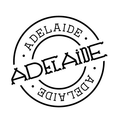 adelaide stamp on white background. Sign, label sticker
