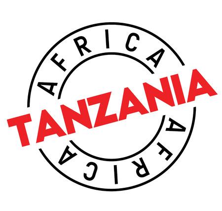 tanzania stamp on white background. Sign, label sticker