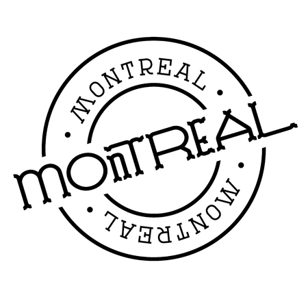 montreal stamp on white