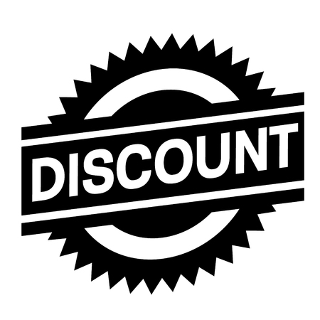 discount stamp on white