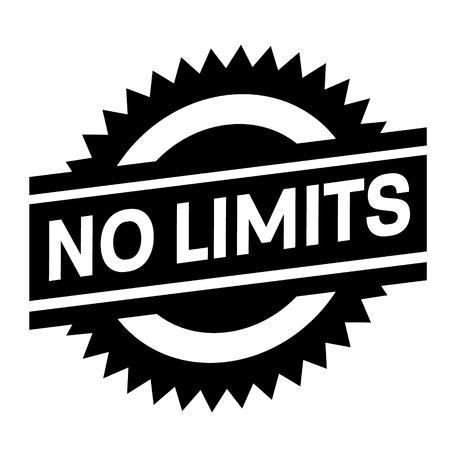no limits stamp on white