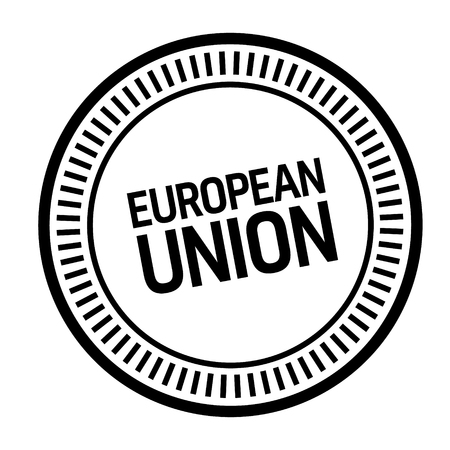 european union stamp on white background. Sign, label, sticker