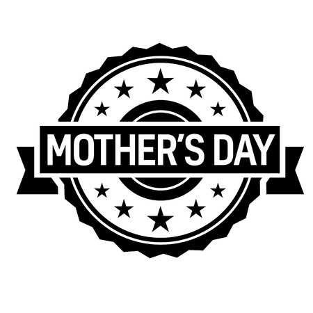 mother day stamp on white background. Sign, label, sticker